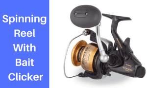 Spinning Reel With Bait Clicker